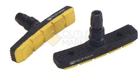Тормозные колодки PROMAX симетричные 70мм черно-желтые